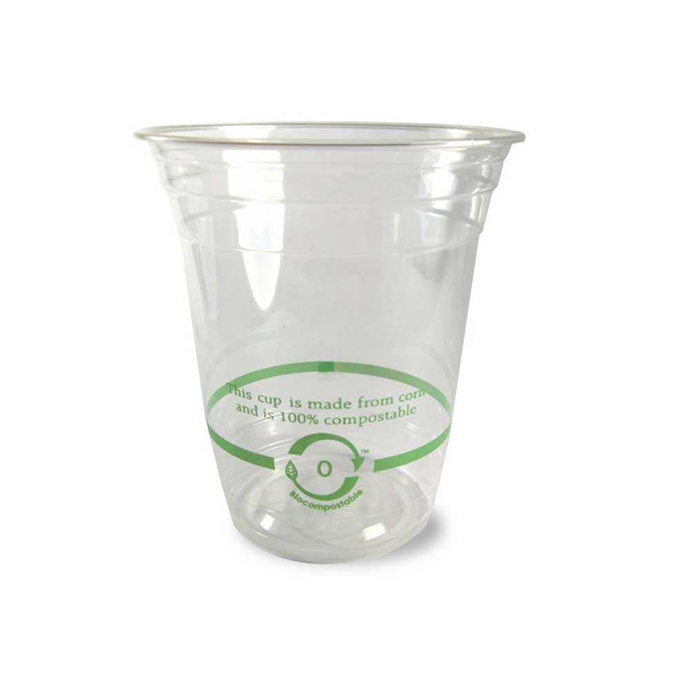 World Centric Clear Ingeo Biocompostable Corn Starch Cold Cup, 14 Ounce -- 1000 per case.