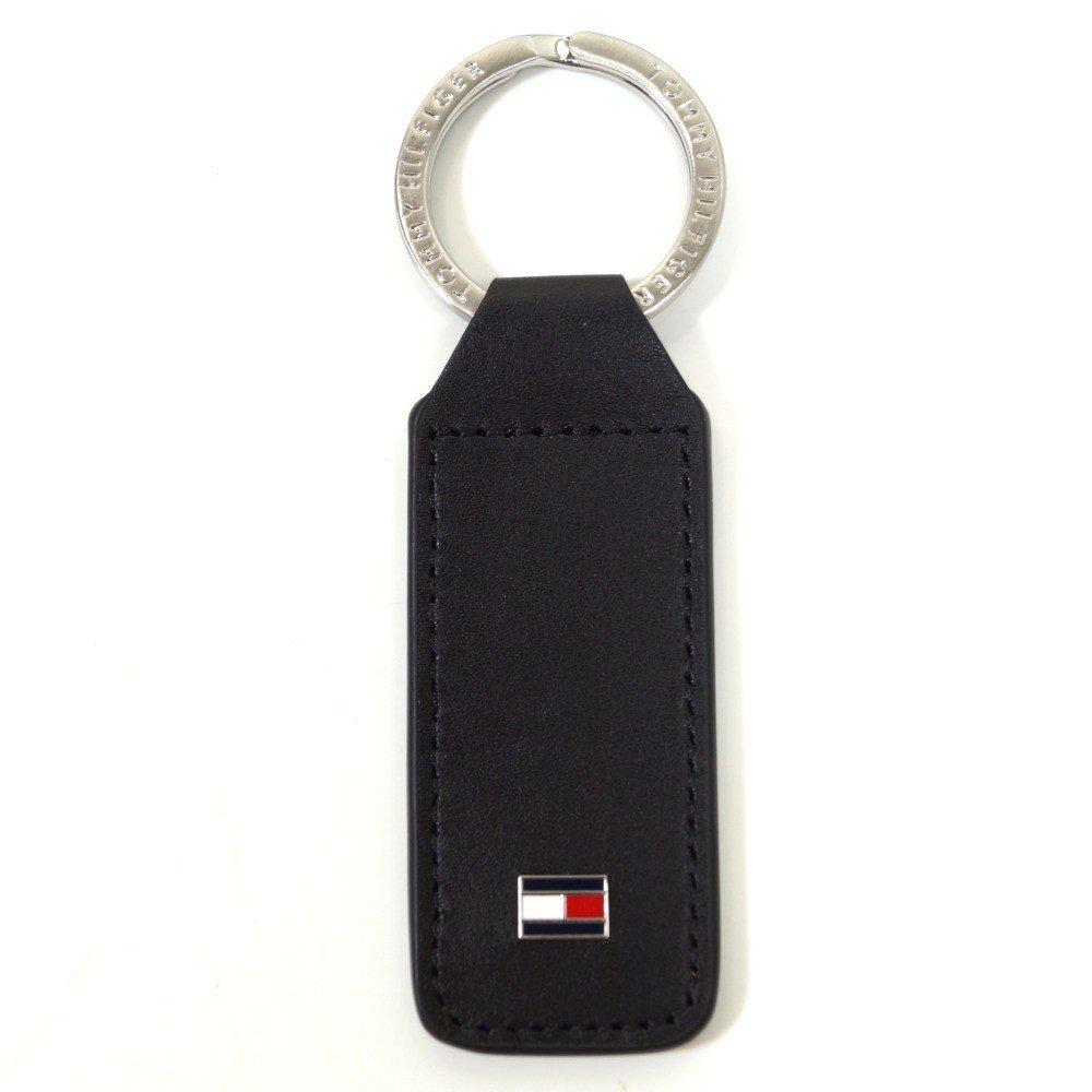Tommy Hilfiger Eton Keyfob Schwarz AM0AM01991-002 Schlüsselanhänger Taschenanhänger Anhänger Schlüsselringanhänger