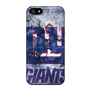 Perfect Hard Phone Cases For Iphone 5/5s With Support Your Personal Customized Attractive New York Giants Pattern CharlesPoirier