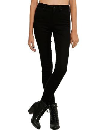 Amazon.com: LOVEsick Black High-Waist Super Skinny Jeans: Clothing