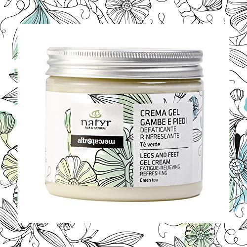 Natyr Fußpflege-Creme mit grünem Tee 200 ml - pflegend und belebend - Hilfe für schwere Füße und Beine