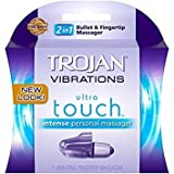 trojan Vibrations Ultra Touch Intense Vibrating Fingertip & Condom Personal...