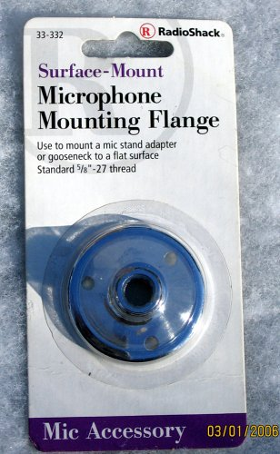 Microphone Mounting Flange (Surface-Mount Microphone Mounting Flange)