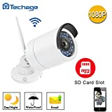 [Connect-to-Your-Own-WIFI Camera]Techage HD 1080P Wireless WIFI IP Camera 2.0MP Waterproof IP66 Nignt Version Outdoor Sercurity Camera Motion Detection With TF Card Slot (32G SD Card) …