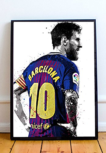 Lionel Messi Limited Poster Artwork - Professional Wall Art Merchandise (More Sizes Available) (16x20)