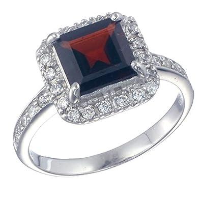 Wedding Ring Amazon 15 Fancy Sterling Silver Garnet Ring
