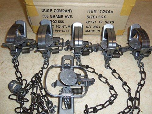 1/2 Dozen (6 PAK) Duke 1 Coil Spring Trap 1/2 Dozen for Mink & - Long Spring Trap