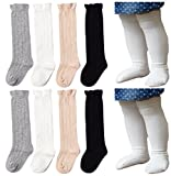 Best QandSweet Clothing For Boys - Unisex Baby Socks QandSweet 4 Pairs Knee-High Stockings Review