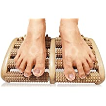 TheraFlow Dual Foot Massager Roller (Large) - Relieve Plantar Fasciitis, Heel, Foot Arch Pain & Stress - Foot Chart & Instructions Included - Acupressure/Reflexology Tool - Perfect Gift -