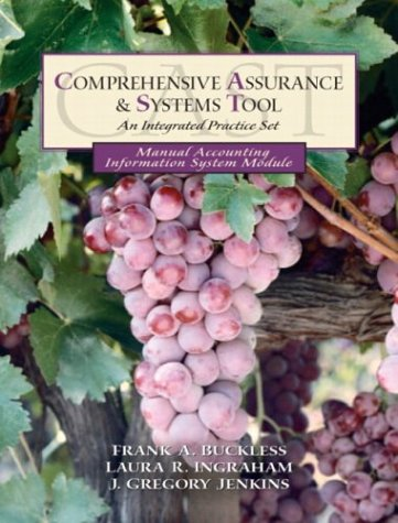 Book cover from Comprehensive Assurance & Systems Tool: An Integrated Practice Set (Manual Accounting Information System Module) First Edition by Frank A. Buckless