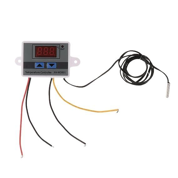 MagiDeal 12V Control de Temperatura Termostato Interruptor Enchufe Sonda 120W Digital: Amazon.es: Coche y moto