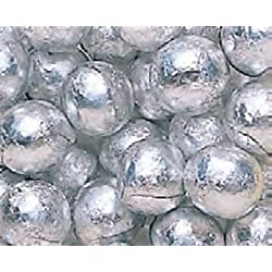 Silver Foiled Milk Chocolate Balls 1LB Bag