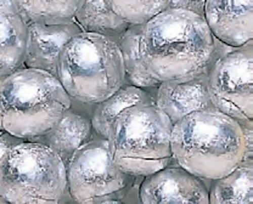 Madelaine Silver Foiled Milk Chocolate Balls 5LB Bag