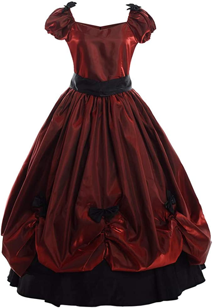 Victorian Clothing, Costumes & 1800s Fashion GRACEART Vintage Women Victorian Bowknot Dress Gothic Ball Gown Elegant Prom Full Dress £49.99 AT vintagedancer.com