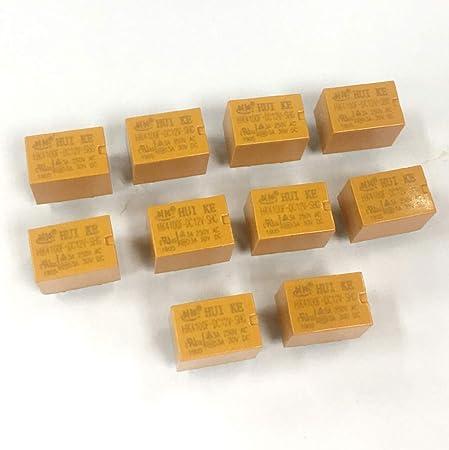 Milageto 3V 12V 24V DC Mini Power Relay HK4100F-DC12V-SHG PCB Mount 6 Pins REPAYS DC24V