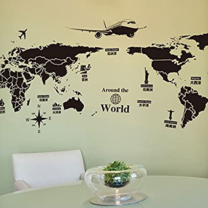 Buy large size pvc self adhesive wall stickers creative global large size pvc self adhesive wall stickers creative global travel world map wallpaper stickers gumiabroncs Image collections