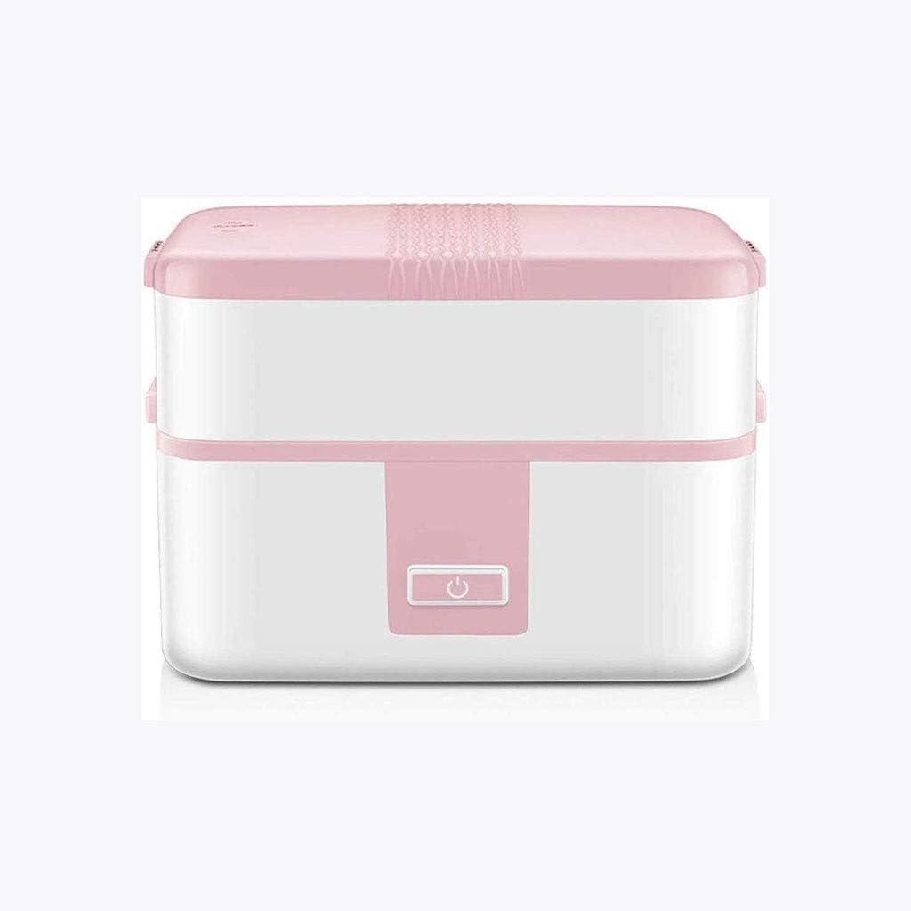 GAOFQ Fiambrera con Aislamiento Rosa - Caja de Aislamiento Duradero calentable de Doble Capa, práctico diseño de Revestimiento de Porcelana Blanca, Seguro y Duradero