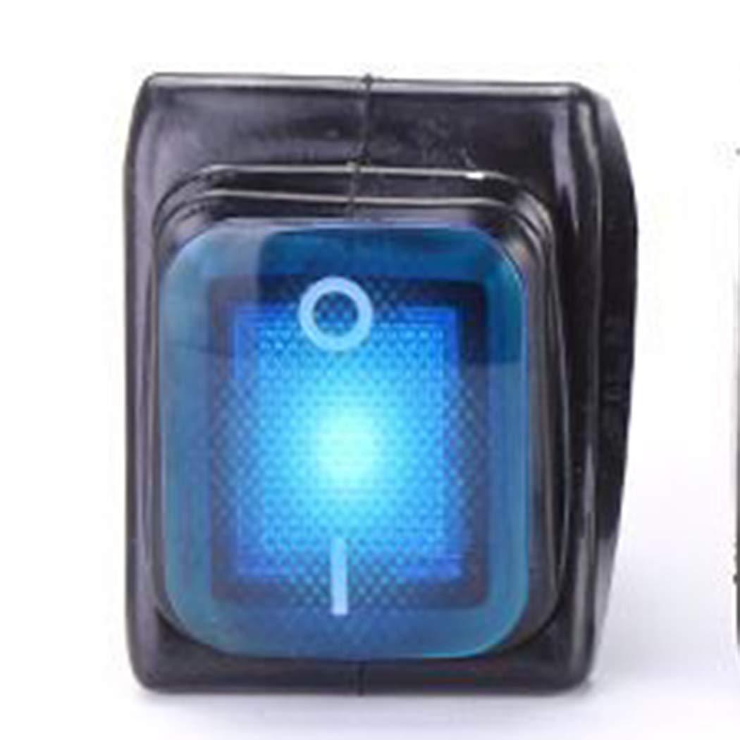 murieo Interruptor impermeable de equipo de cocina de interruptor de tipo de barco de 2/polos 4/pines 1pcs azul