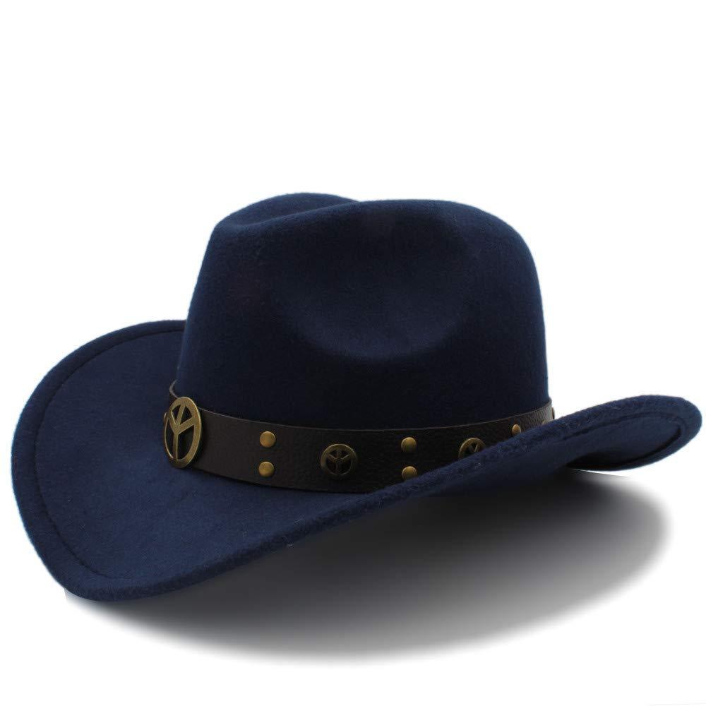 Achun Mütze Mode Winter Cowboyhut Wildleder Look Wild West Abendkleid Männer Damen Cowgirl Unisex Roll-up Hut
