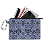 Haunted Mansion Wallpaper Canvas Zip Pouch - XL Canvas Pouch 12x9 inch - Multi Purpose Pencil Case Bag in 6 sizes