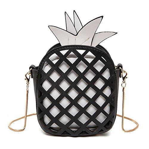 leather Black pineapple woman shape shoulder wallet clutch Fruit fashion bag Kipten girl wZ7Rw