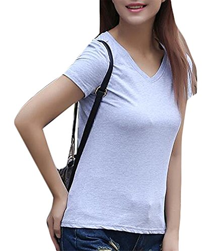 maikeshi-fashion-womens-classic-solid-color-short-sleeves-v-neck-t-shirt-grey-l