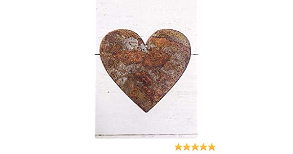 """Sizes 3/"""" Rusty Hanging Metal Heart 5/"""" or 6/"""" 4/"""" Country Rustic Heart"""
