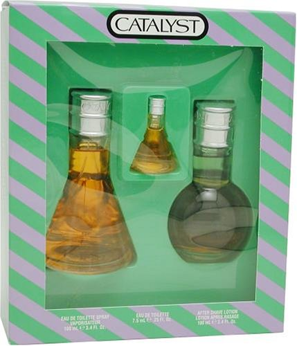 Catalyst By Halston For Men. Set-edt Spray 3.4 Ounces & Aftershave 3.4 Ounces & Eau De Toilette .25 Ounces Mini