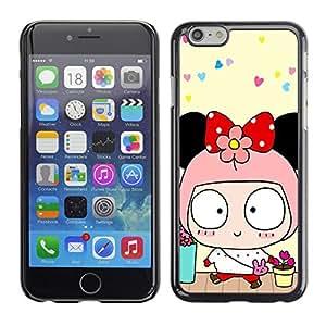 - Cute Girly Lovely - - Monedero pared Design Premium cuero del tir¨®n magn¨¦tico delgado del caso de la cubierta pata de ca FOR Apple iPhone 6 6S 4.7 Funny House