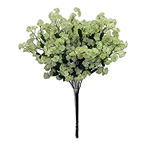 12 Baby's Breath LIGHT GREEN SAGE Gypsophila Silk Wedding Flowers Centerpieces 50