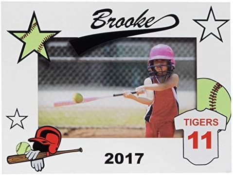 Personalized Baseball Softball 8x10 Picture Frame All Star Home Run Gift