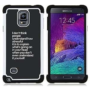 For Samsung Galaxy Note 4 SM-N910 N910 - grey white inspiring insight thought Dual Layer caso de Shell HUELGA Impacto pata de cabra con im????genes gr????ficas Steam - Funny Shop -