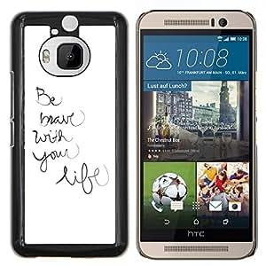 Stuss Case / Funda Carcasa protectora - Vida estar escritos a mano inspirada motivación - HTC One M9+ M9 Plus