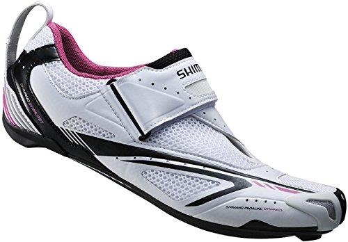 Shimano Scarpe da ciclismo scarpe triathlon adulto SH-WT60 taglia 41 SPD-SL chiusura in velcro, Multicolore, 41, E-SHWT6041 Nero - multicolore