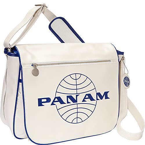 Pan Am Men's Messenger Reloaded-2, Vintage White, Large (Am Messenger)