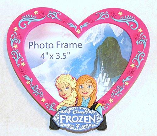 Disney World WDW Park 2014 Frozen Princess Elsa Anna Photo Frame Pink Magnetic -