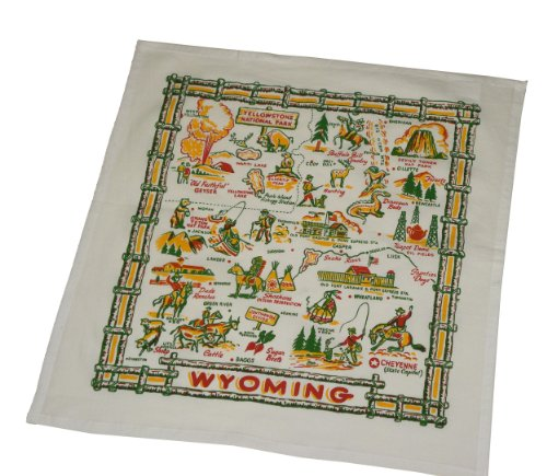 The Red & White Kitchen Co. Wyoming State Souvenir Dish Towel