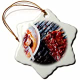 3dRose Grilled Ribs with Sauce, South Africa Snowflake Ornament, 3''