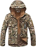 Camo Coll Men's Oversize Camouflage Hoodie Military Jacket