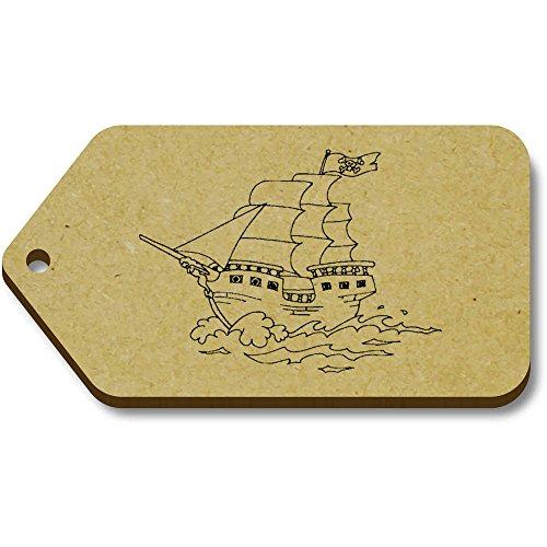X Tag regalo 66mm 'Pirate ship' 34mm Azeeda tg00070431 10 bagaglio xwUq4Rf5pn