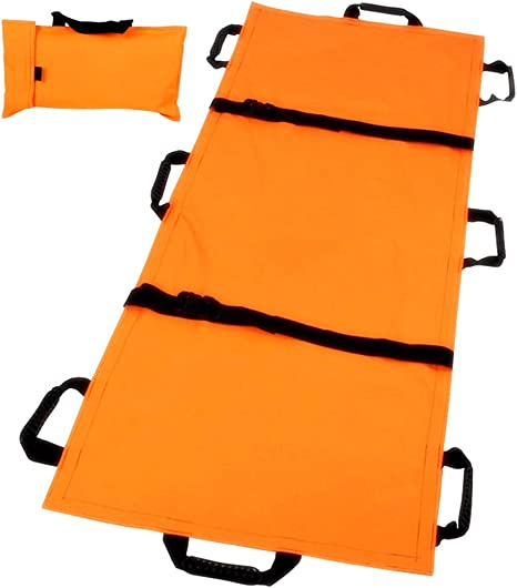 Portable Stretcher with Wheels for Emergency Rescue Hospital,Clinic,Home,Sports Venues,Ambulance Weight Capacity 350 Lb Folding Compact Stretcher