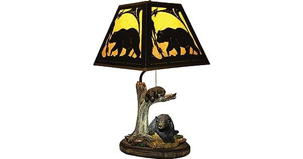 Amazon.com: Borde del Río oso lámpara de mesa con ...