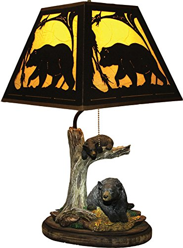 River's Edge Bear Table Lamp with Metal Shade ()