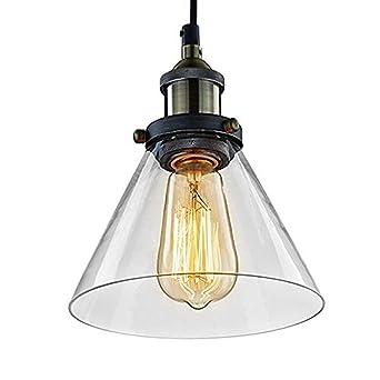 Suspension Jour Pour À En Lampe Cuisine Verre Unimall Industriel E27 40w Luminaire Sallon Chambre Plafonnier Style Coucher Abat Vintage Edison Culot QshCtdr
