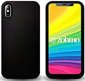 Slimmest Lightest Sleekest iPhone X Battery Case | Full Protection Rubberized Matte | Highest Quality Available | 100% Recharge - 3000mAh | #1 iPhone Accessory | Extended Portable Charging by Zohmo