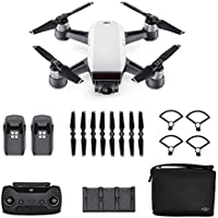 DJI Spark Fly More Combo Palm launch, Intelligent Portable Mini Drone, Alpine White Free 16 Gb SD (Scorpion Drones Dealer)