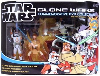 Clone Wars Commemorative 3 Pack Commander Cody, General Grievous and Obi Wan by Star Wars ()