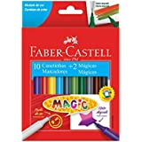 CANETINHA MAGIC 10 CORES + 2, Faber-Castell, 15.0112MZF, Multicor