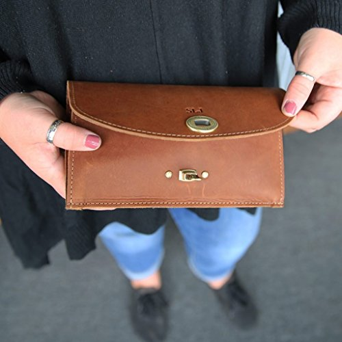 The Betty Jean Women's Fine Leather Envelope Clutch Pocketbook Wallet With Insert by Holtz Leather Co.