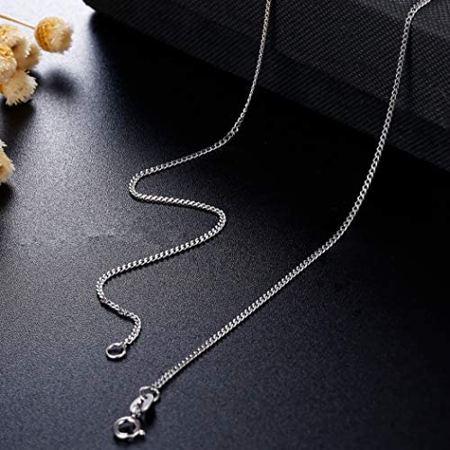 sailimue 1.3MM Cha/îne Argent 925 Collier pour Homme Femme Cha/îne Maille Gourmette Link Collier 41-76cm